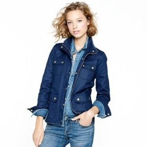 J. Crew The Downtown Field Jacket Waxed Cotton